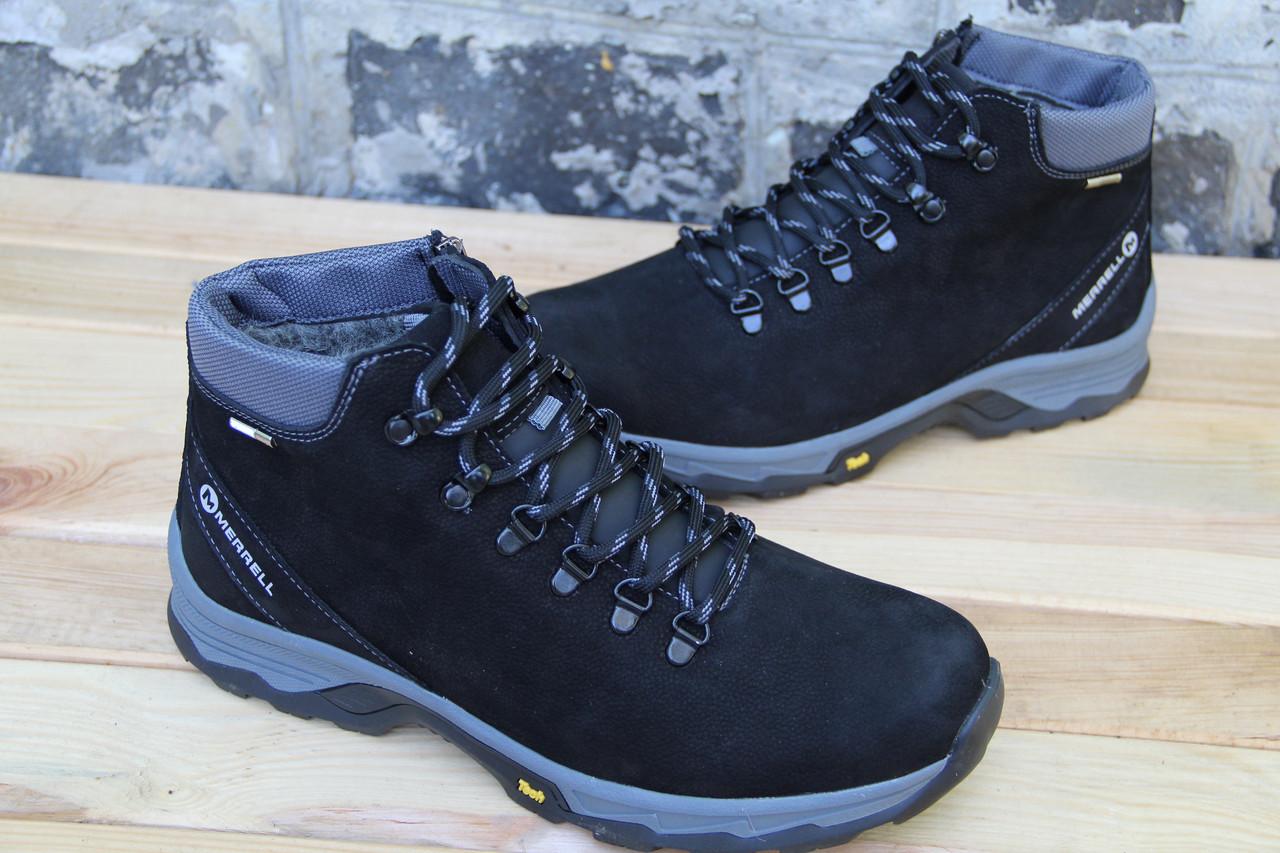 Мужские ботинки зимние из натуральной кожи и меха DSW 473 BLN