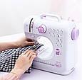 Електрична побутова швейна машинка для будинку UFR-705 на батарейках і від мережі (швейна машинка), фото 2