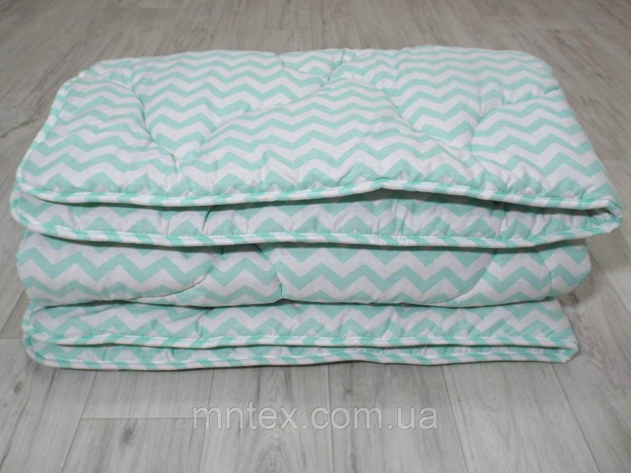 Стеганное зимнее одеяло из натуральной шерсти, покрытие ранфорс
