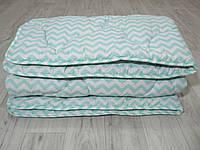 Стеганное зимнее одеяло из натуральной шерсти, покрытие ранфорс, фото 1