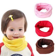 Детские трикотажные хомуты, снуды, шарфы