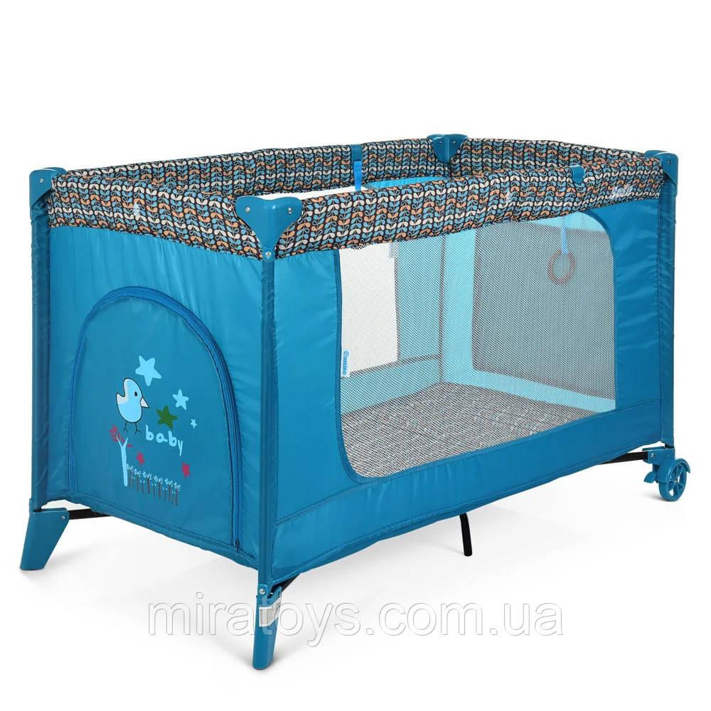 Дитячий манеж 1016, манеж для дитини, ліжечко-манеж El Camino Mint Tree