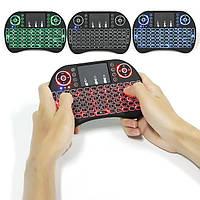 Бездотова клавіатура I8 з підсвіткою (синій/червоний/зелений) для PC/TV-BOX (Англійська/Російська клавіатура)
