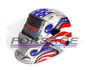 Сварочная маска хамелеон Optech S777 Silver Flag