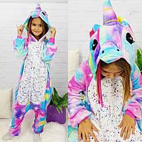Пижама кигуруми для детей Блестящий единорог Funny Mood, фото 1