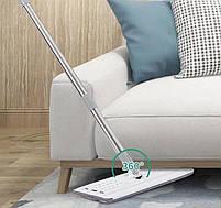 Комплект для прибирання відро і швабра-ледащо з віджимом EasyMop світло-сірий, фото 3