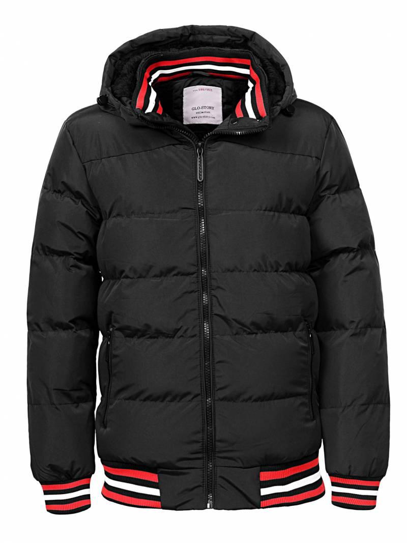 {есть:134/140,146/152} Куртка утепленная для мальчиков Glo-Story,  Артикул: BMA9167-черный  [146/152]