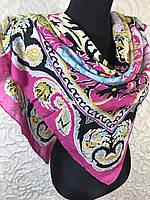 Ярко-розовый платок с интересным рисунком (цв.18-1), фото 1