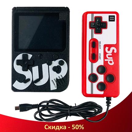 Игровая приставка SUP Game Box 400в1 Черная - Приставка Dendy с подключением к ТВ, портативная консоль 400 игр, фото 2