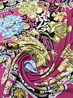 Ярко-розовый платок с интересным рисунком - купить на Kosinka.net
