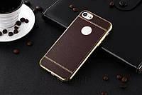Силиконовый чехол ультратонкий из искусственной кожи коричневый iPhone 7/ 7Plus