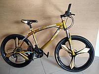 Велосипед BMW на литых дисках Цвет хром золотой