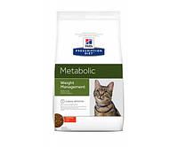Hill's Prescription Diet Metabolic Weight Management корм для кошек с курицей 4 кг