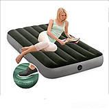Матрас надувной одноместный Intex 64761 99x191x25см, зеленый, фото 5