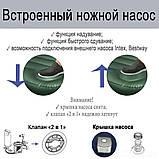 Матрас надувной одноместный Intex 64761 99x191x25см, зеленый, фото 6