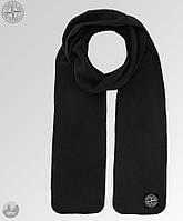 Мужской черный шарф Stone Islande
