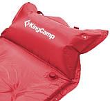 Коврик самонадувной KingCamp Base Camp Comfort KM3560, красный, фото 3