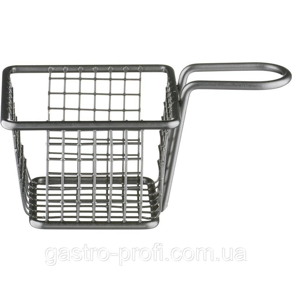 Корзинка черная для подачи картофеля фри и других закусок 100*100*70 мм Stalgast 546054