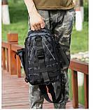 Сумка-рюкзак тактическая, черный камуфляж, фото 8