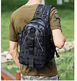 Сумка-рюкзак тактическая, черный камуфляж, фото 9