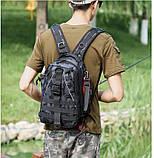 Сумка-рюкзак тактическая, черный камуфляж, фото 10