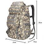 Рюкзак тактический B35 50 л, песочный, фото 4