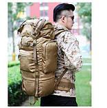 Рюкзак тактический A21 70 л, песочный, фото 6