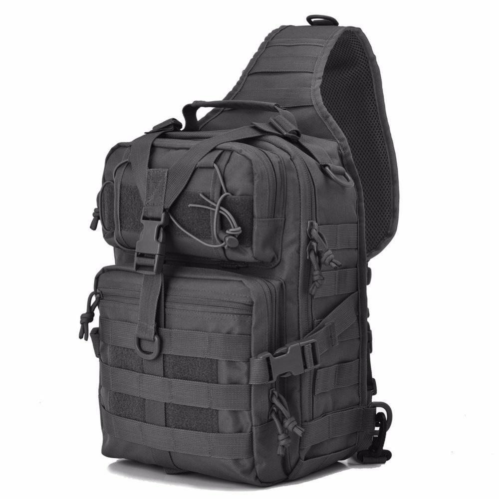 Сумка-рюкзак тактическая военная A92 800D, черная