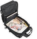 Сумка-рюкзак тактическая военная A92 800D, черная, фото 7