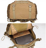 Рюкзак тактический Y003 50 л, песочный, фото 5