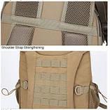 Рюкзак тактический Y003 50 л, песочный, фото 8