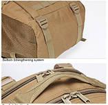 Рюкзак тактический Y003 50 л, песочный, фото 9