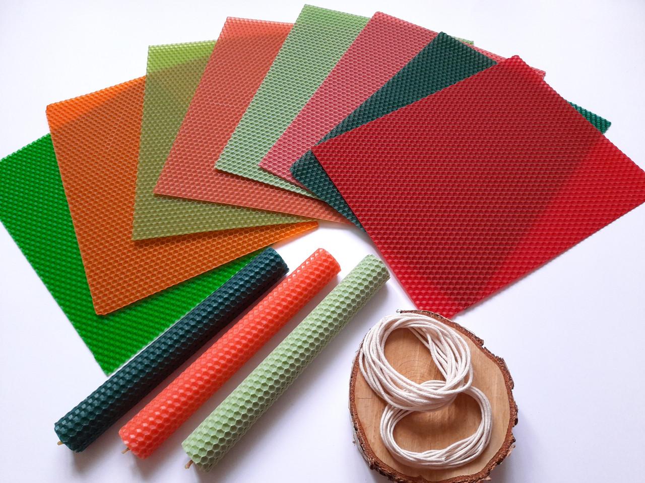 """Набір для створення свічок з кольорової вощини """"Літо"""" Zigrivay (20х26см) 8 шт (10015)"""