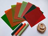 """Набір для створення свічок з кольорової вощини """"Літо"""" Zigrivay (20х26см) 8 шт (10015), фото 2"""