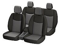 """Автомобильные чехлы """"Nika"""" для CHEVROLET AVEO 2011- задняя спинка закрытый тыл 2/3 1/3; 5 подгол; п / подлокот; airbag."""