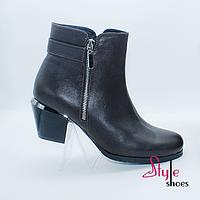 Ботинки женские на невысоком каблуке, фото 1