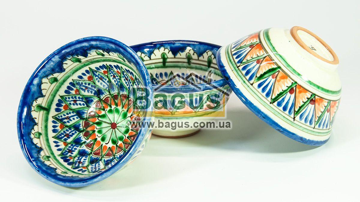 Набор пиал узбекских 3шт. 230мл 11х5,5см  ручная работа 1155-03