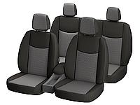 """Автомобильные чехлы """"Nika"""" для VOLKSWAGEN TRANSPORTER T5 1+2 2003- 3 подголовника; airbag."""
