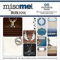 Набор карточек для журналинга BoBunny Sleigh Rde Misc Me PCKT Content 96 шт (665573061539)