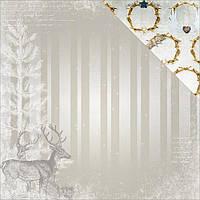 Скрап бумага Bo Bunny Sleigh Ride Reindeer Двусторонняя 30х30 см (665573061393)
