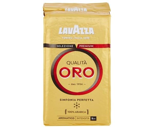 Кофе молотый Lavazza Qualita Oro молотый 250 г с цветочными нотками и мягкой кислинкой,для кофемашин,турки