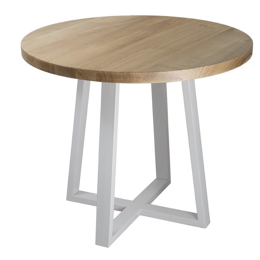 """Деревянный круглый столик """"Лирик"""" из дерева в стиле loft"""