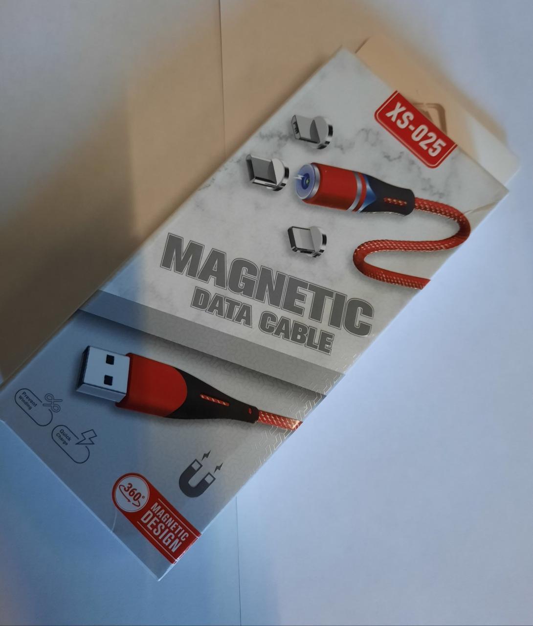 """Магнитный кабель для зарядки Type-C """"XS-025"""" 1м, черный"""