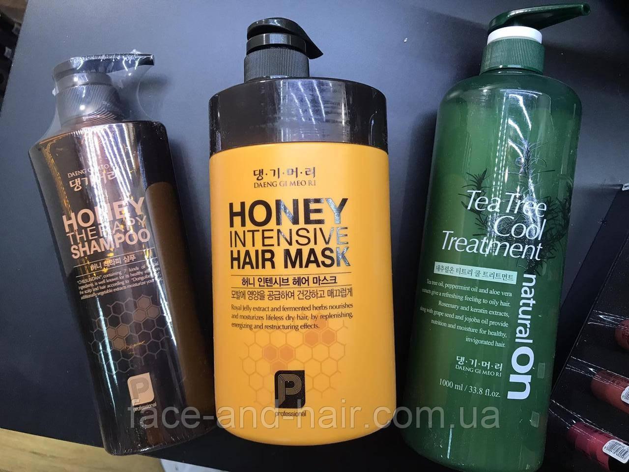 """Шампунь, маска, кондиционер для волос """"Медовая терапия"""" DAENG GI MEO RI Professional Honey Therapy"""