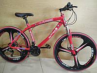 """Велосипед BMW 26/"""" на литых дисках Цвет красный на рост 150 - 180см"""