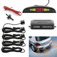 Парковочная система на 4 датчика парковки парктроник Assistant Parking Sensor Black, Автотовары,