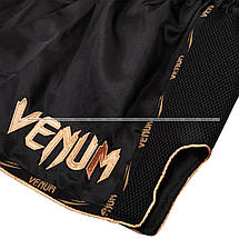 Шорты для тайского Venum Giant Muay Thai Shorts Black Gold, фото 3