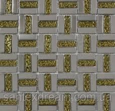 Мозаика Grand Kerama 30x30 (1,5х1,5) трино золото (1087)