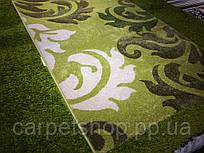 Дорожка ковровая зелёная с вензелем, ширина:  100(6,90); 120 см