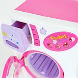 Детский набор бытовой техники 680: стиральная машинка, утюг, гладильная доска, корзина, музыка, свет, фото 2